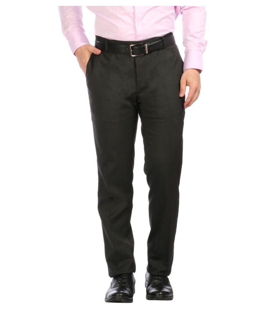 Donear Nxg Brown Slim Flat Trousers