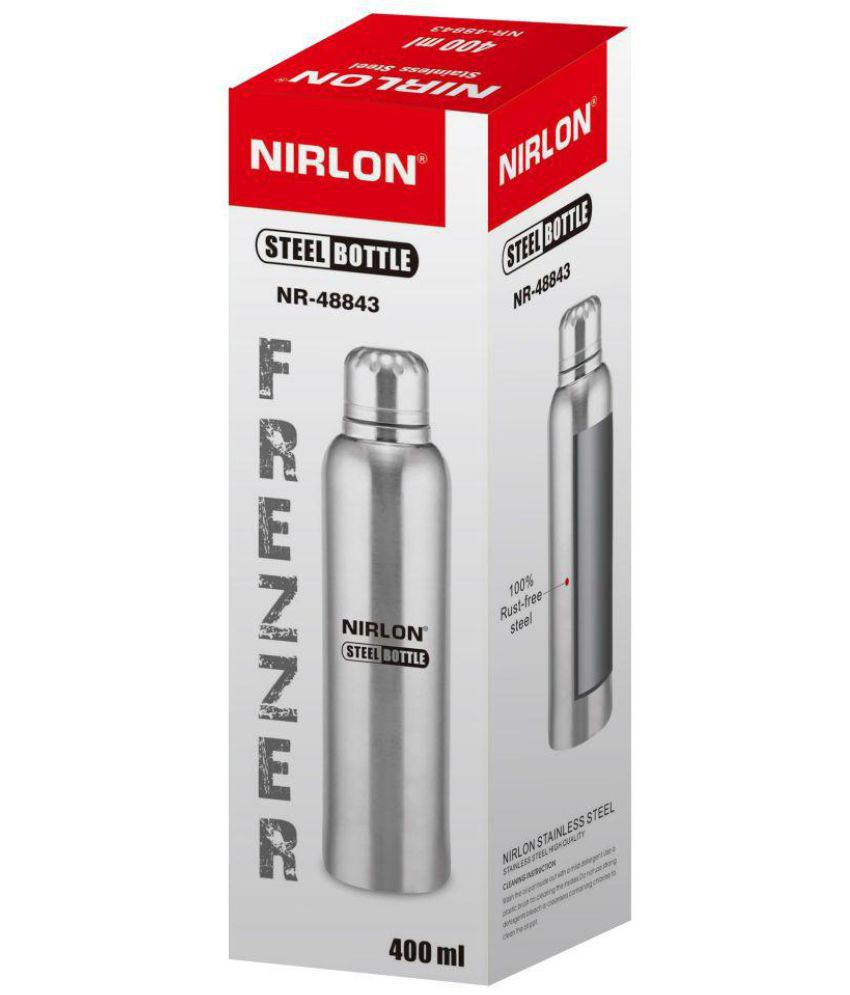 8524cc65986 Nirlon Freezer Bottle Silver 400 ml Fridge Bottle Set of 1  Buy ...