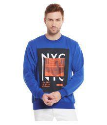 Yepme Blue Round Sweatshirt