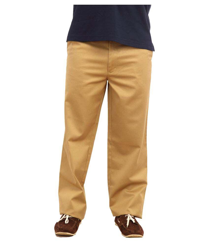 Colorplus Beige Regular Flat Trousers