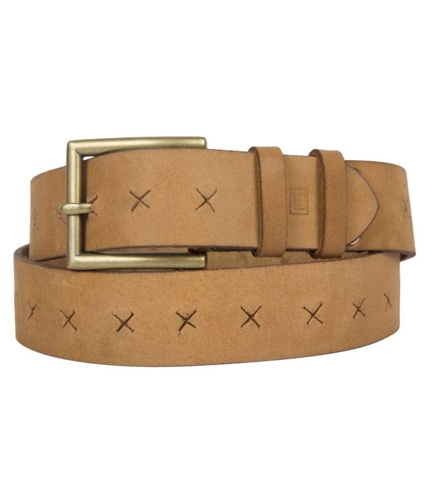 Leder Concepts Tan Leather Formal Belts