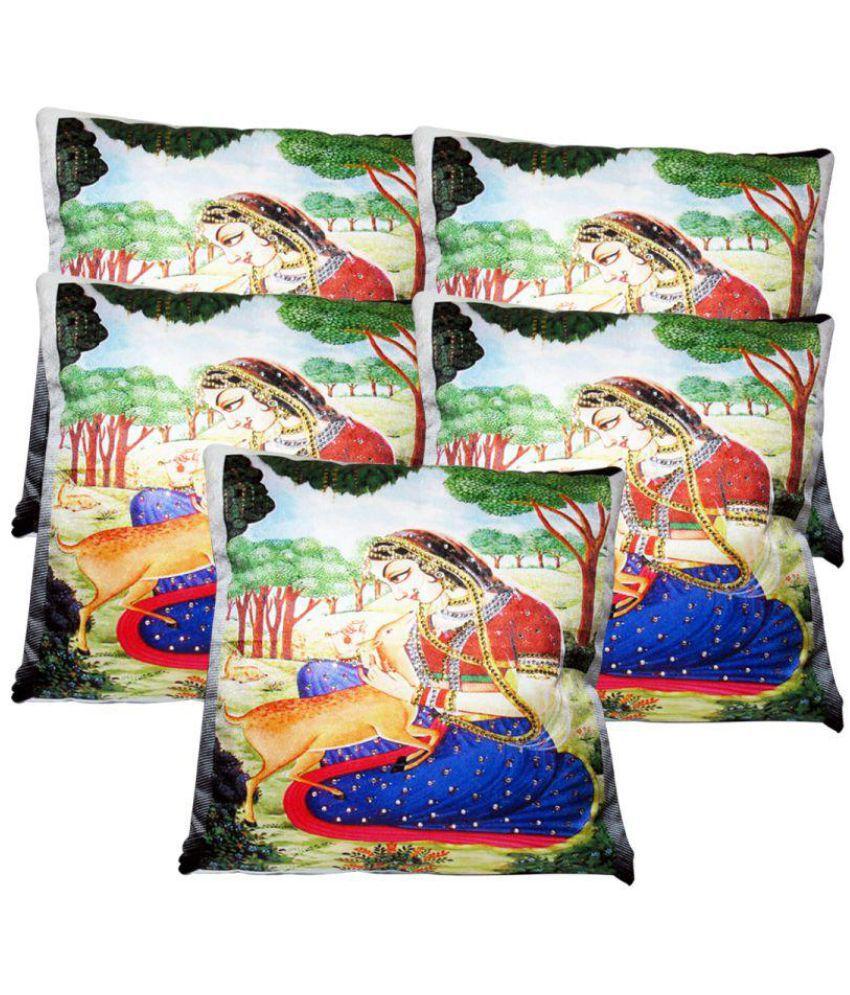 Rotomax Set of 5 Velvet Cushion Covers