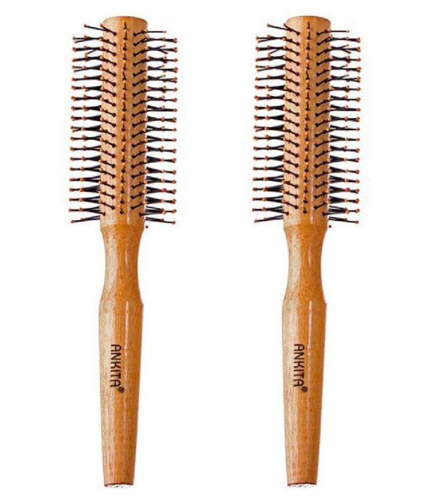Ankita Round Hair Brush Pack of 2