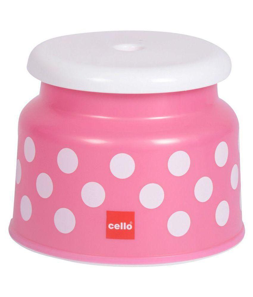 Plastic bathroom sets -  Cello Fusion Bathroom Set 6 Pcs Pink