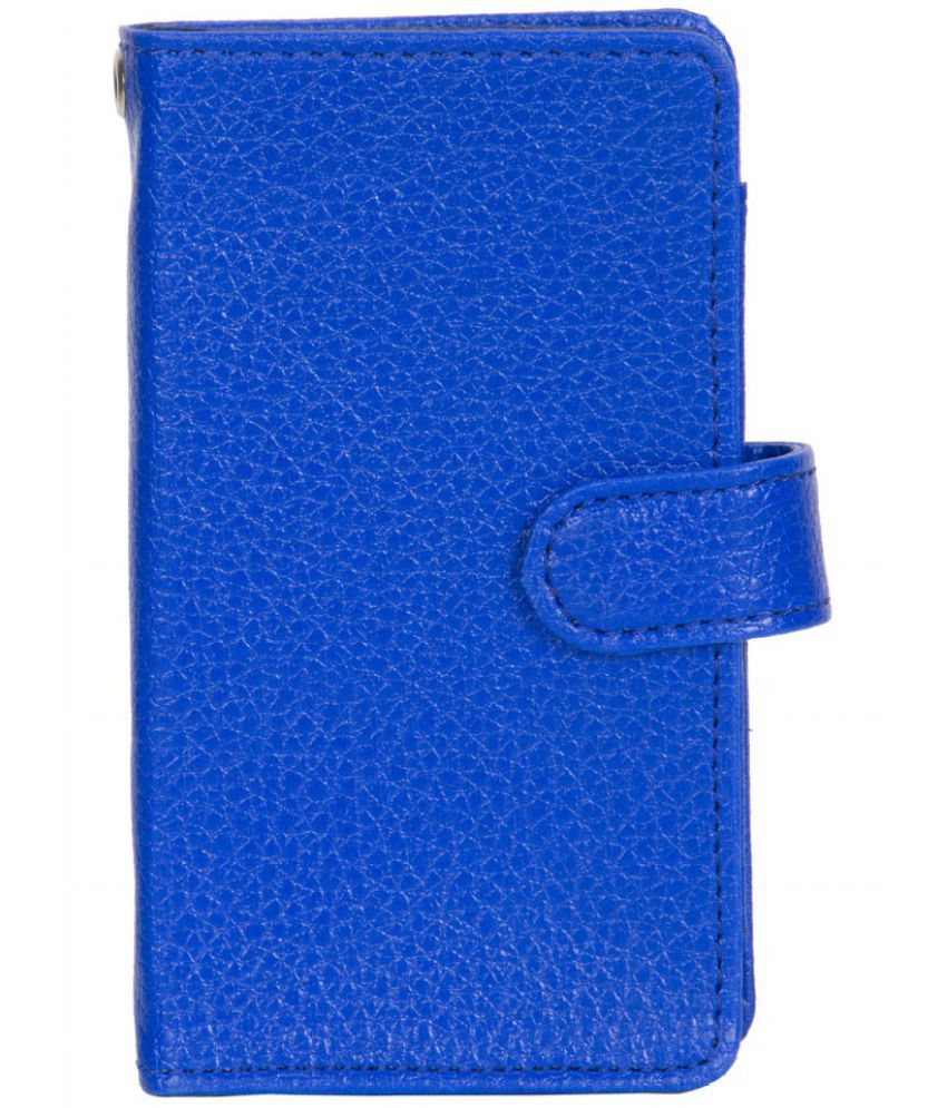 Micromax Bolt Q338 Holster Cover by Senzoni - Blue