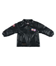 Kidsdew Black Leatherette Jacket