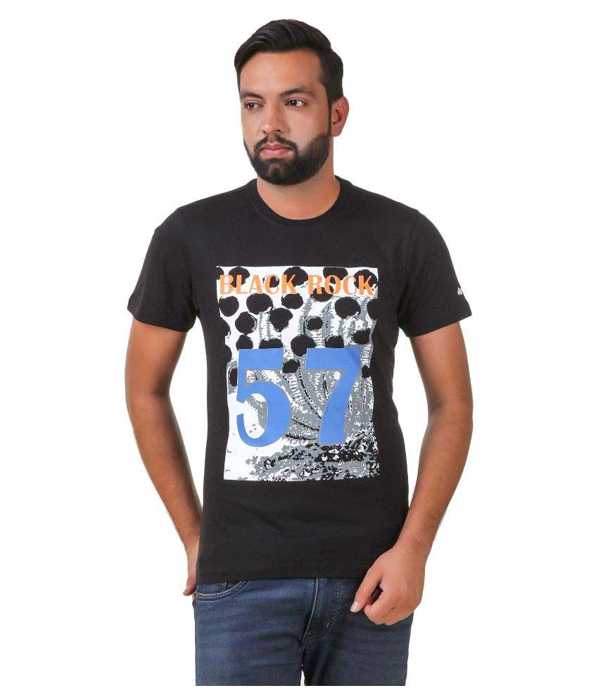Spunk Black Round T-Shirt