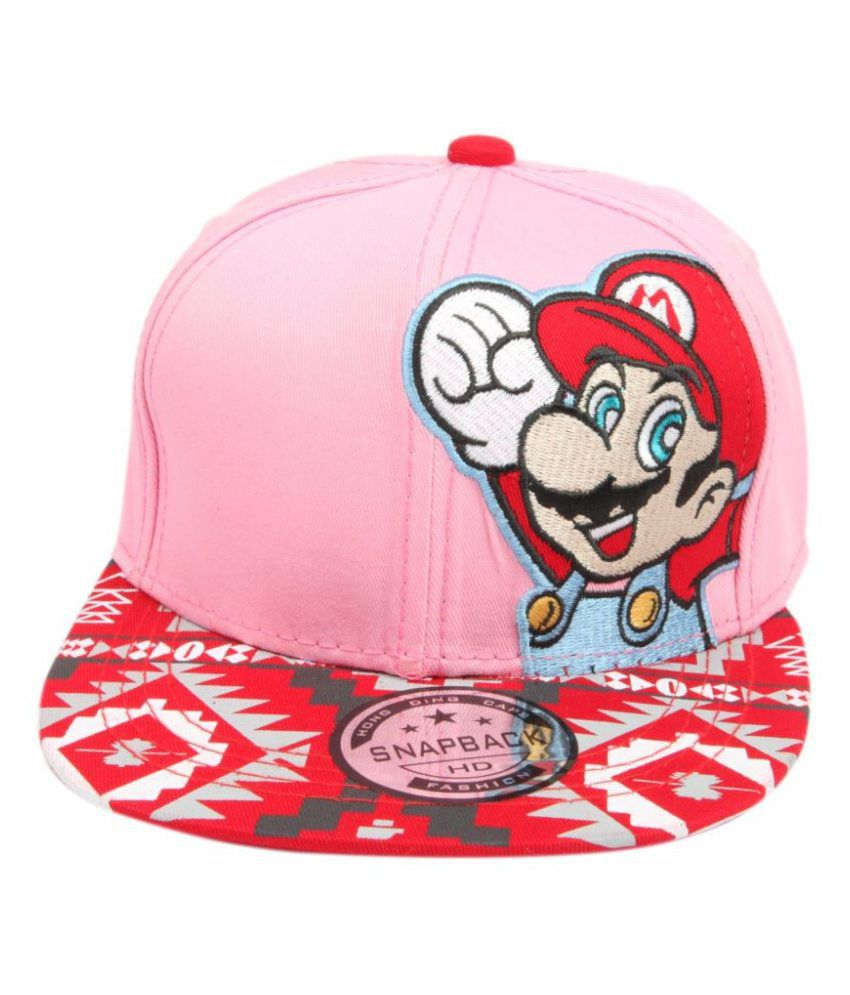 4038cda763e ILU Pink   Red Cap For Kids  Snapback caps  Baseball caps   Hip hop Cap (3  To 12 Years)  Buy Online at Low Price in India - Snapdeal