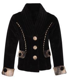 Cutecumber Girls Partywear Black Coat