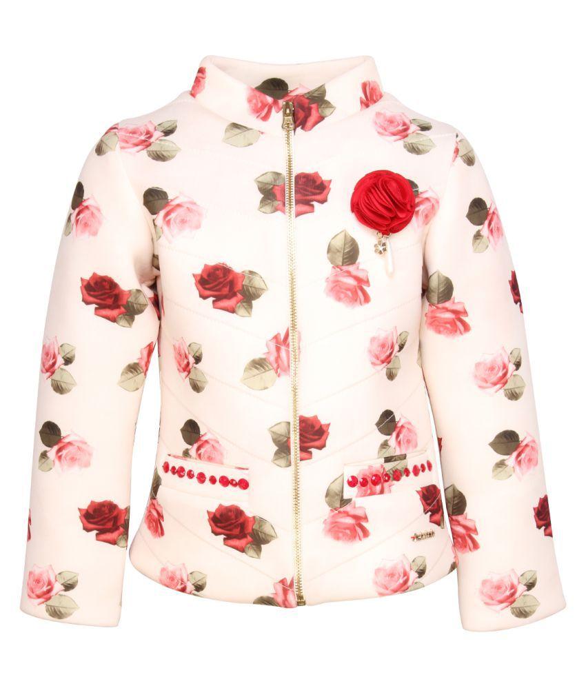 Cutecumber Girls Partywear Multicolour Coat