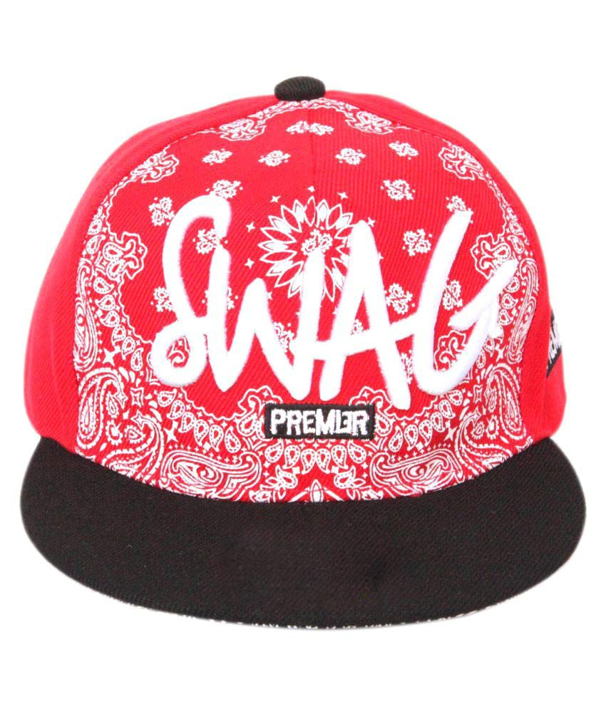 ILU Red Hip Hop Cap  Buy Online at Low Price in India - Snapdeal c36de18a433