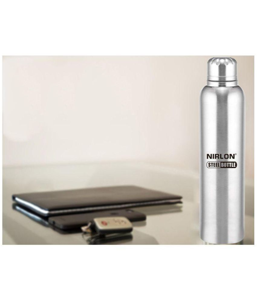 7b7714f73a3 Nirlon Freezer Water Bottle Silver 1000 Fridge Bottle Set of 2  Buy ...