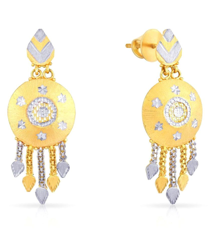 Malabar Gold and Diamonds 22k BIS Hallmarked Gold Hangings