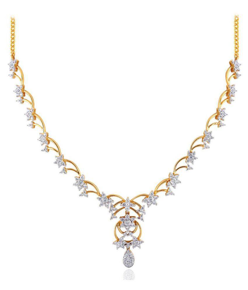 Nakshatra 18k BIS Hallmarked Yellow Gold Necklace