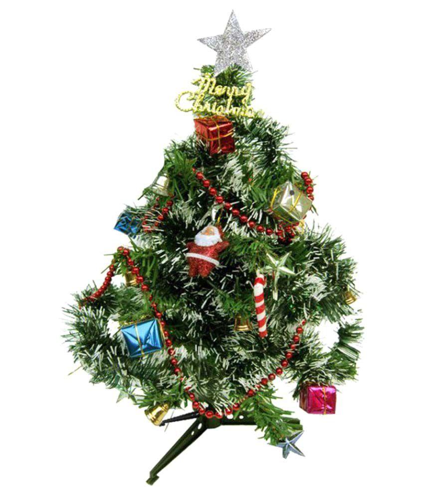 Unique Arts & Interiors. Plastic Christmas Tree Multicolour- 2 Ft -(Pack of 1)-29% OFF