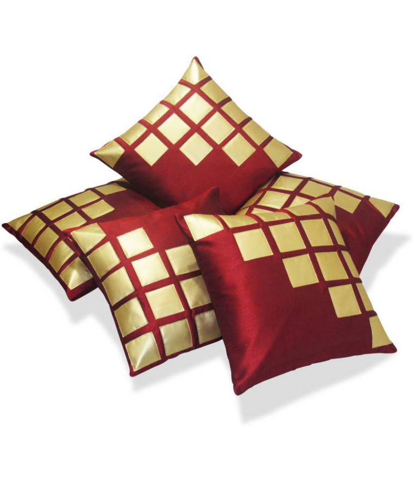 Nikunj Enterprises Set Of 5 Polyester Cushion Covers