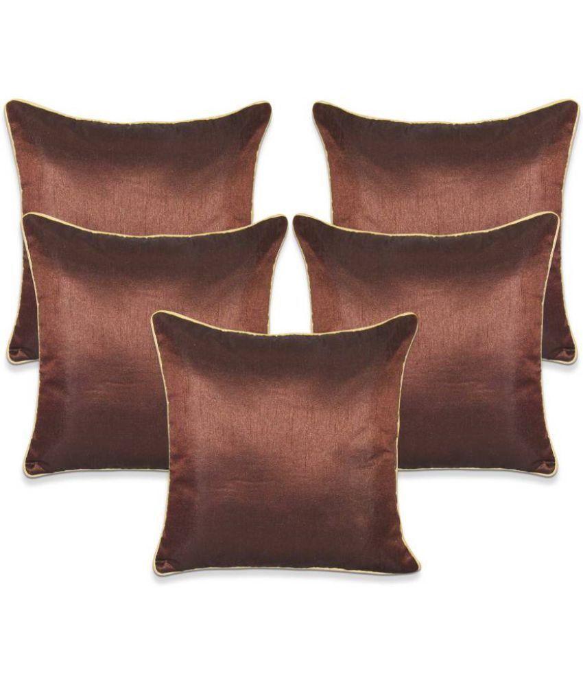 Nikunj Enterprises Set Of 5 Polyester Cushion Covers