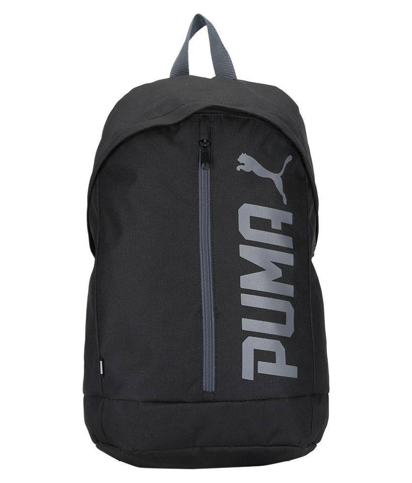 74c9425a43 Puma Black Canvas College Bags Backpacks For Men & Women- 22 Ltrs Tourist  Bag - Buy Puma Black Canvas College Bags Backpacks For Men & Women- 22 Ltrs  ...