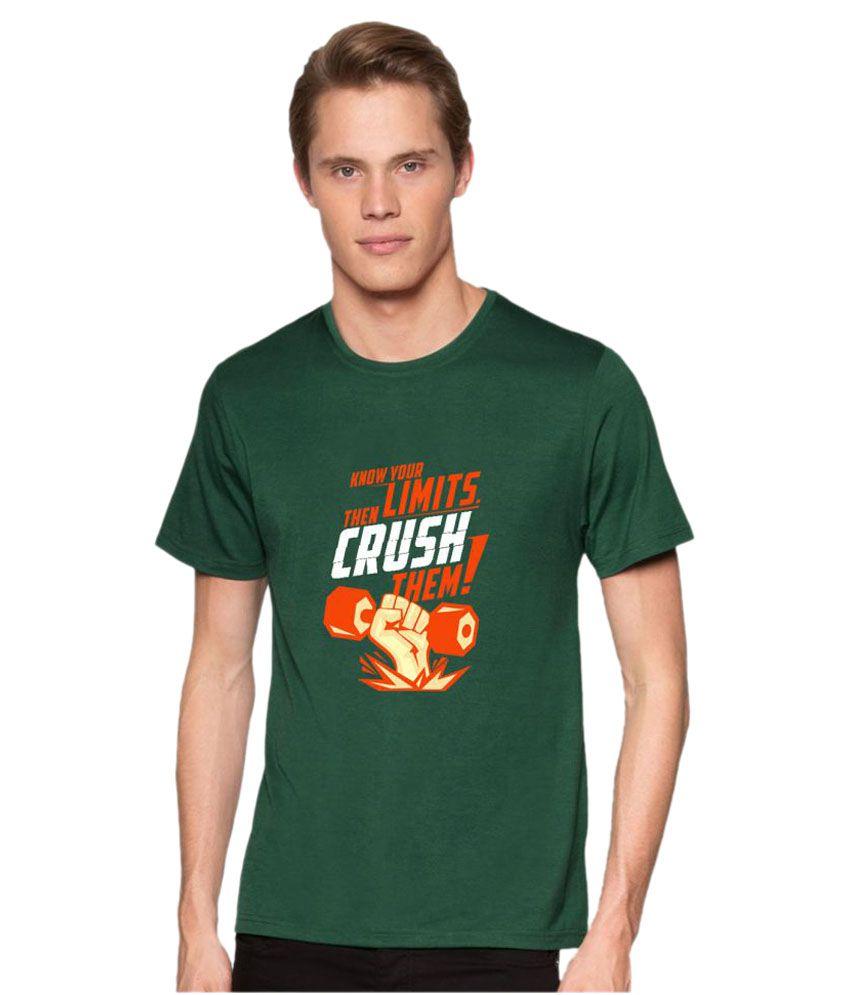 Redfool Fashions Green Round T-Shirt