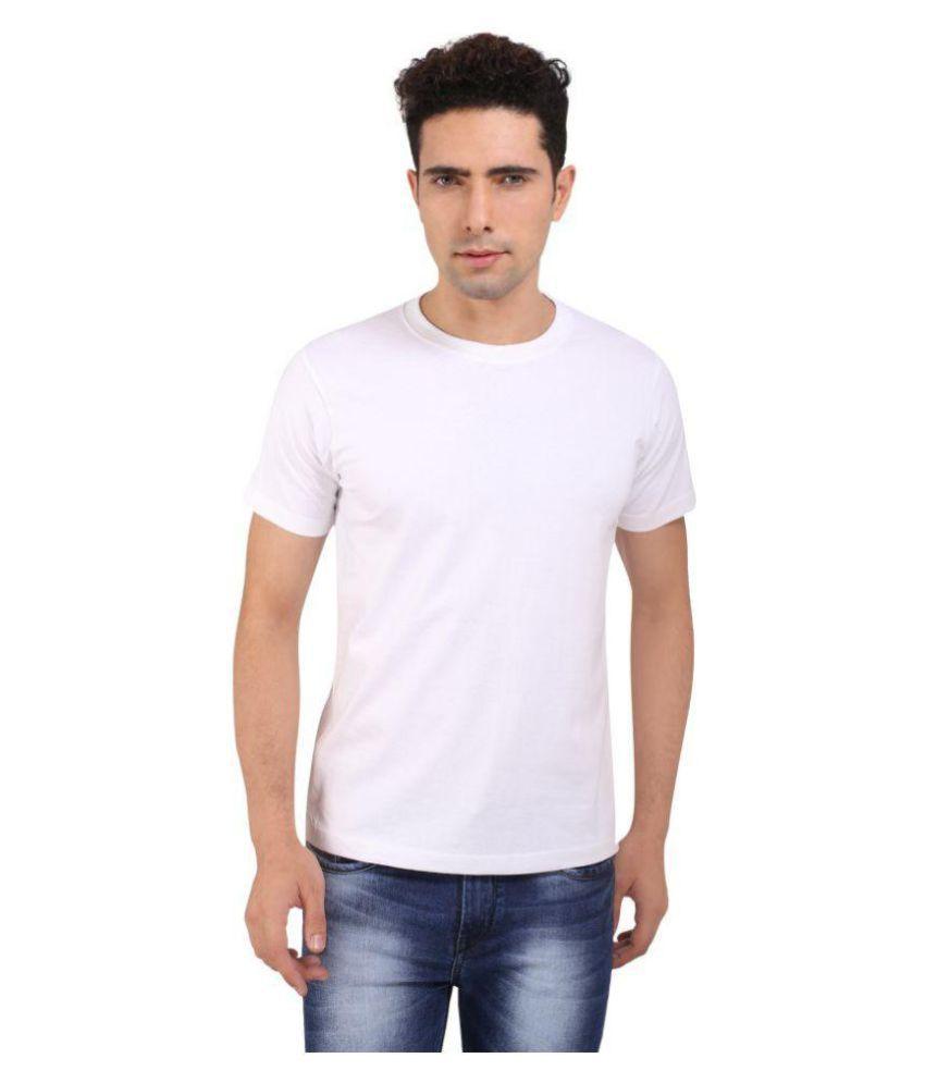 Melfon White Round T-Shirt