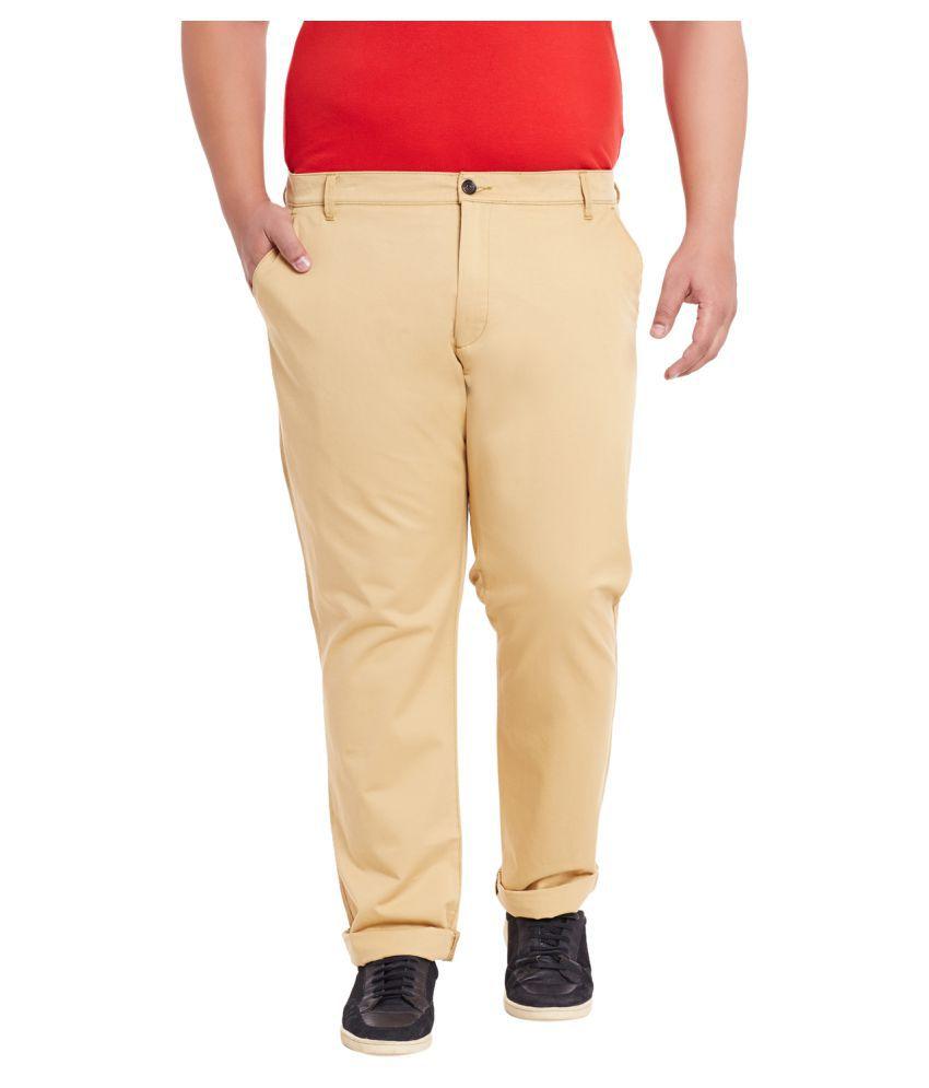 Mike & Smith Khaki Slim Flat Trousers