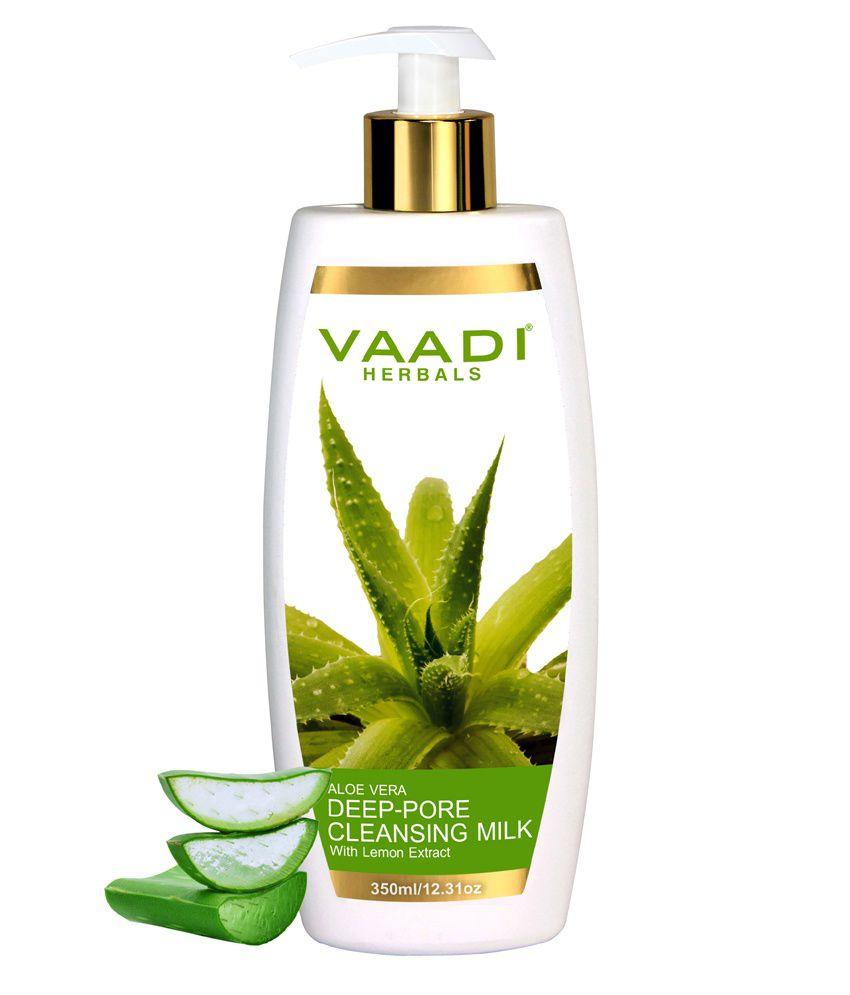 Vaadi Herbals Aloevera Deep Pore Cleansing Milk with Lemon Extract, 350ml OPI- Manicure Scrub  - 10 OZ