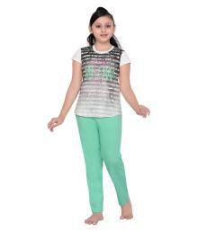 Punkster Multicolour Top & Pyjama Set For Girls