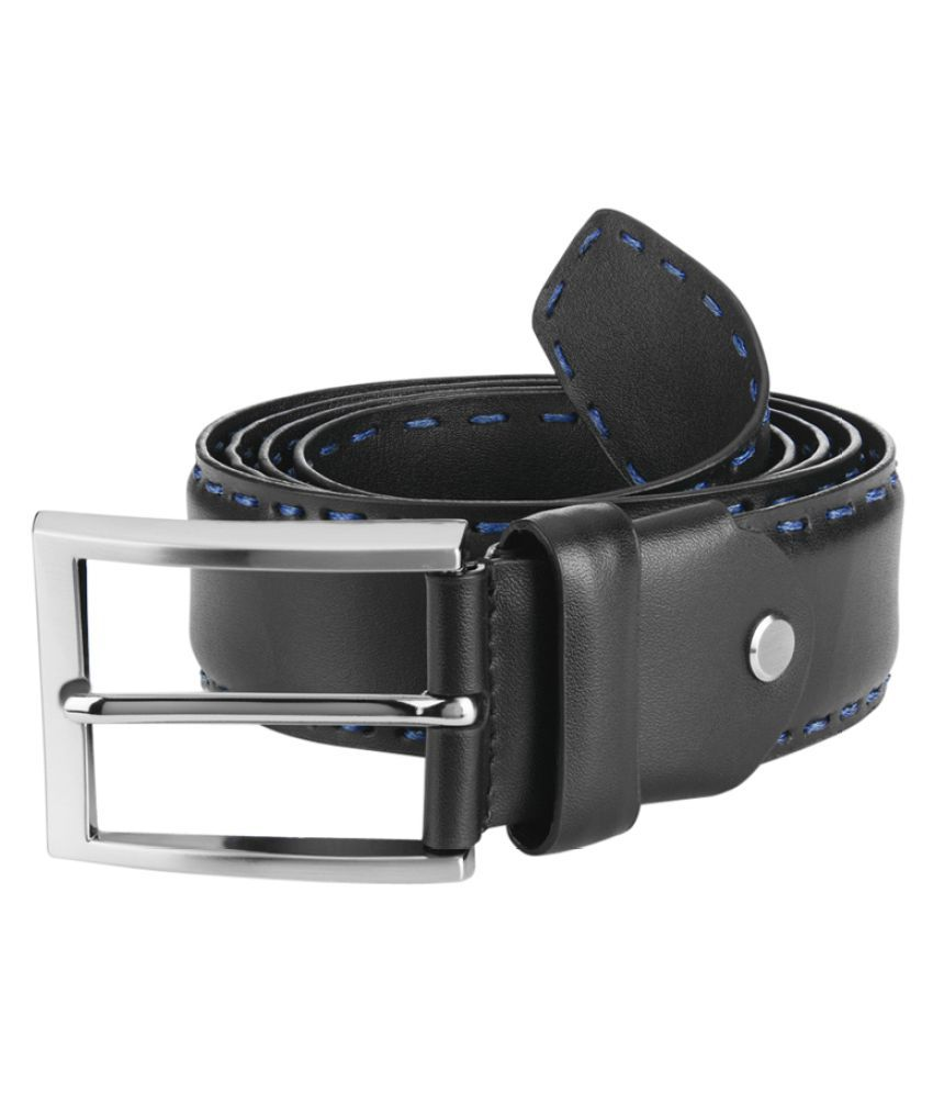 Raymond Black Leather Formal Belts