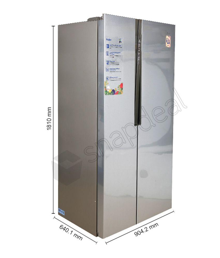 haier 565 ltr hrf 618ss side by side refrigerator. Black Bedroom Furniture Sets. Home Design Ideas