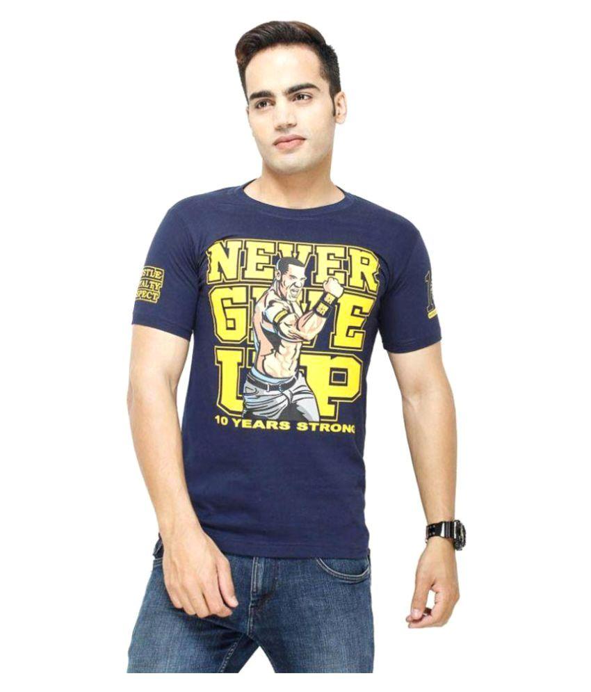 WWE Blue Round T-Shirt