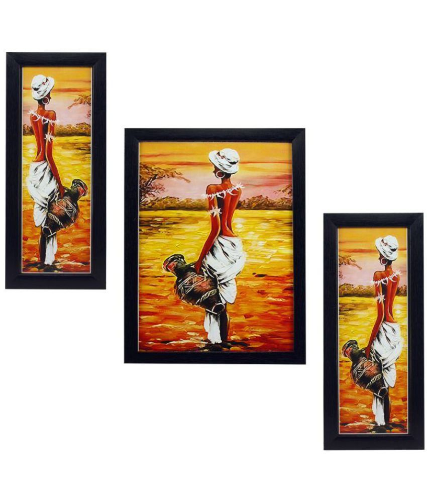 Indianara FIGURATIVE MDF Painting With Frame