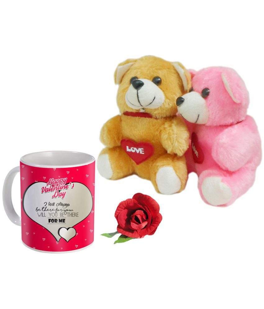 Sky Trends Valentine Combo Teddy With Coffee Mug Set Best Gift For Girlfriend
