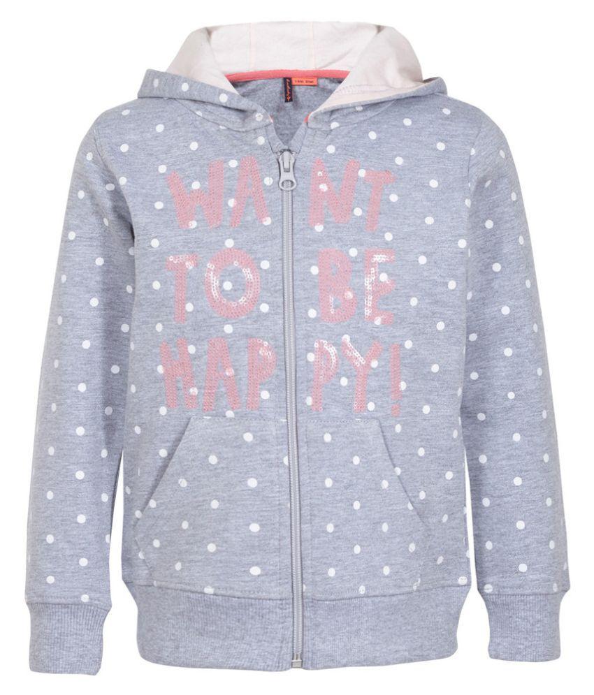 Superyoung  Grey Full Sleeves Sweatshirt