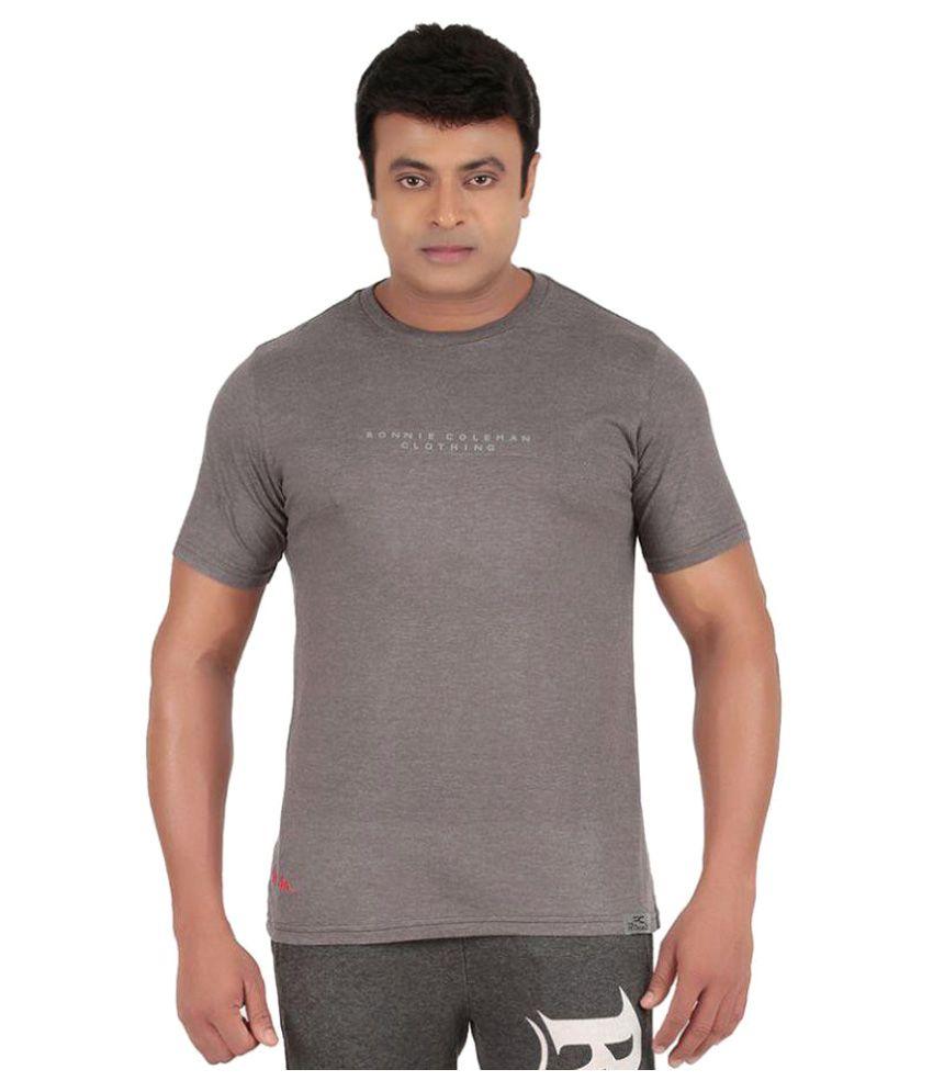 Ronnie Coleman Grey Cotton T Shirt