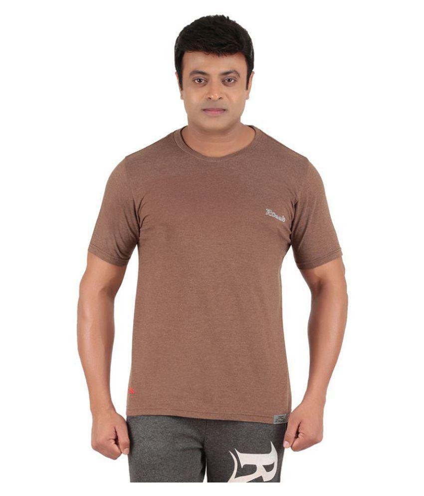Ronnie Coleman Brown Cotton T Shirt