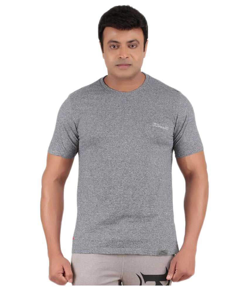 Ronnie Coleman Grey Cotton T Shirt