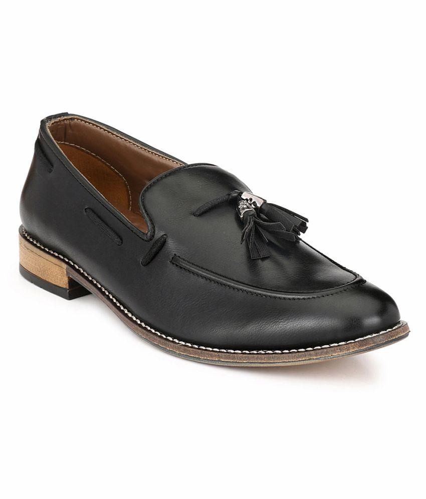 Prolific Black Tassel Non-leather Formal Shoes