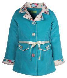 Cutecumber Green Coats For Girls