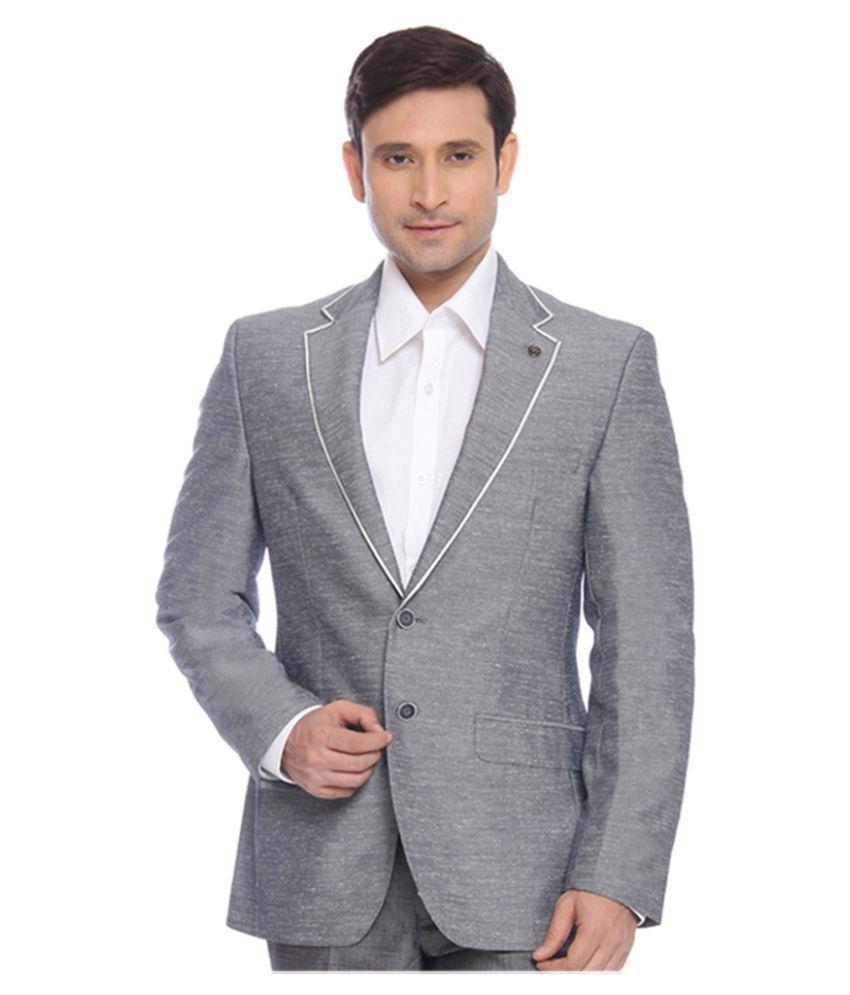 Raymond Grey Solid Formal Blazers