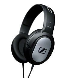 Sennheiser HD201 Over Ear Wired Headphones Without Mic Black