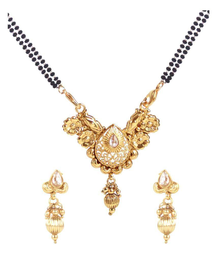 Jewels Gold Antique Gold Plated Mangalsutra Set