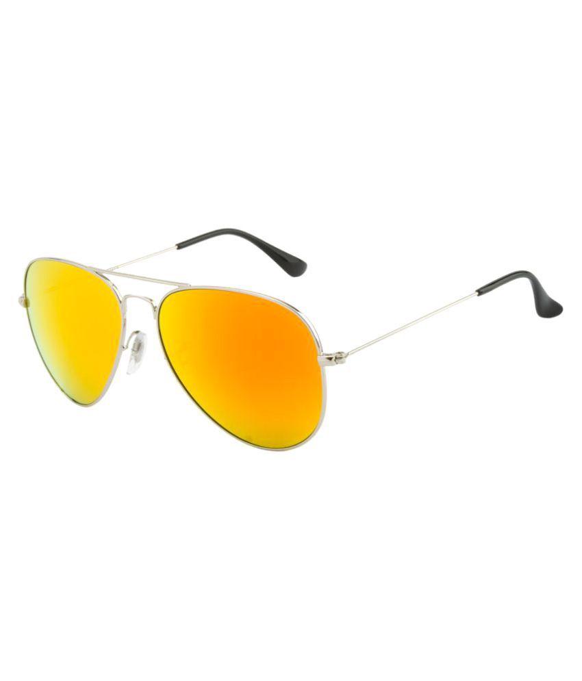 O POSITIVE Orange Pilot Sunglasses ( OPGL3024C8MR )