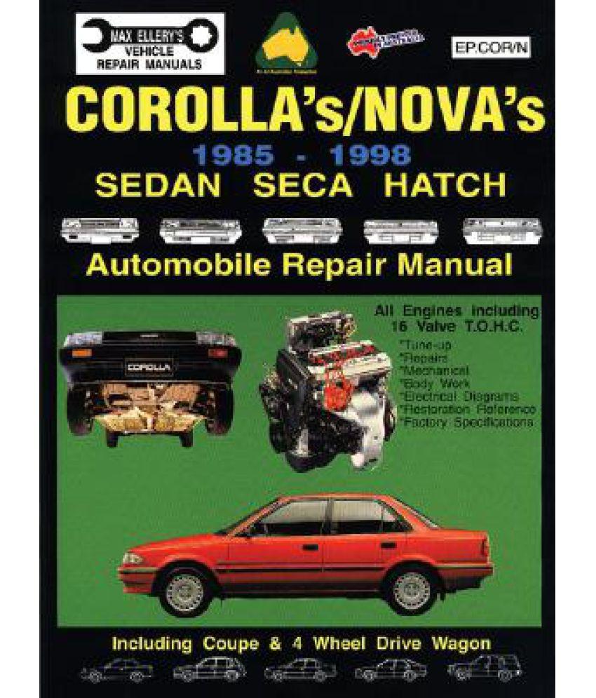 toyota corolla nova 1985 98 auto repair manual sedan seca hatch rh snapdeal  com 1985 toyota corolla owners manual 1997 Toyota Corolla ...