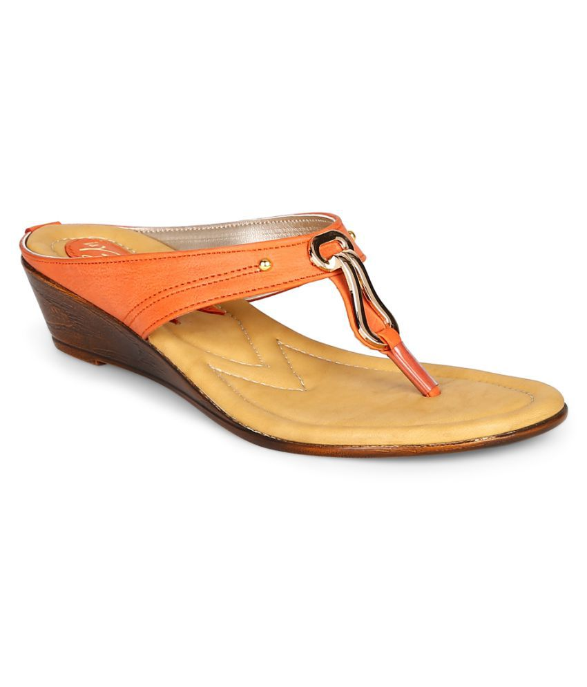 La Briza Orange Heels