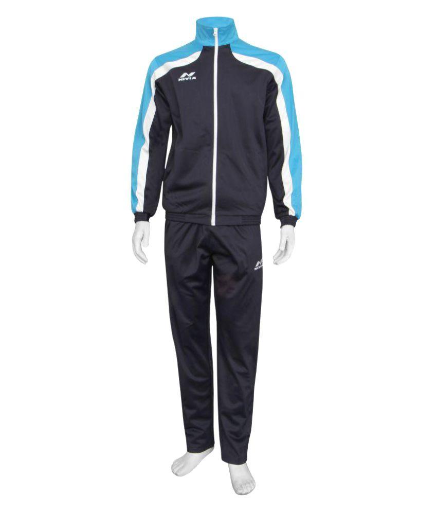 Nivia Blue Polyester Tracksuit Single-2405l4