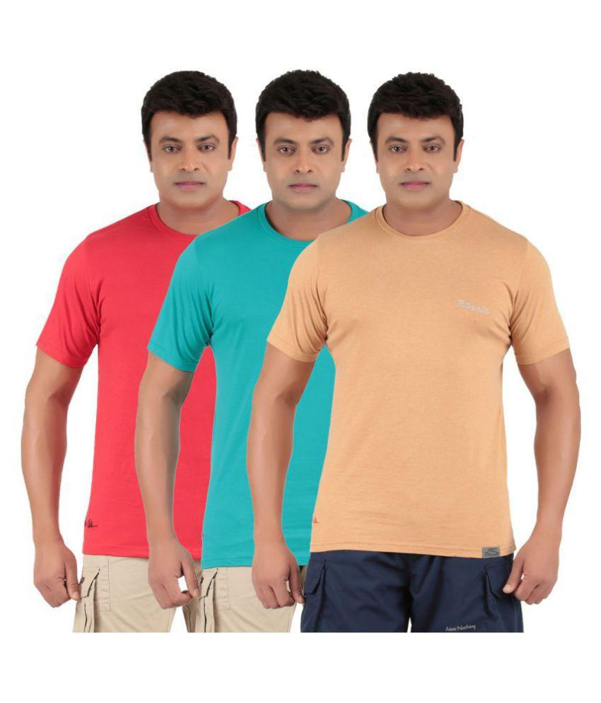 Ronnie Coleman Multi Round T-Shirt Pack of 3