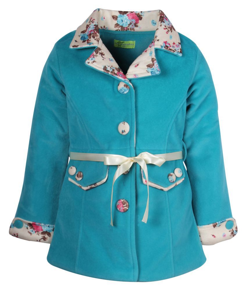 Cutecumber Blue Polyester Girls Jacket