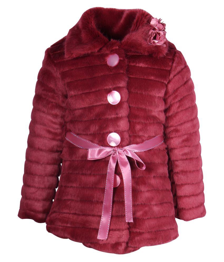 Cutecumber Maroon Polyester Winter Coat
