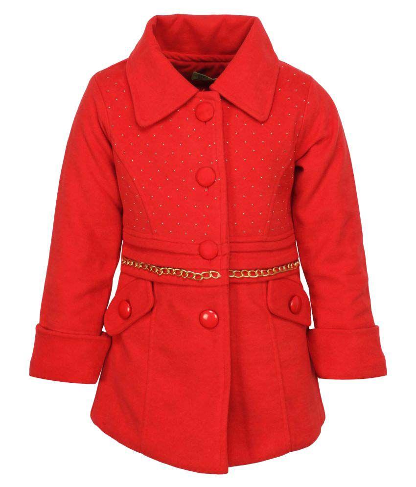 Cutecumber Orange Polyester Winter Jacket