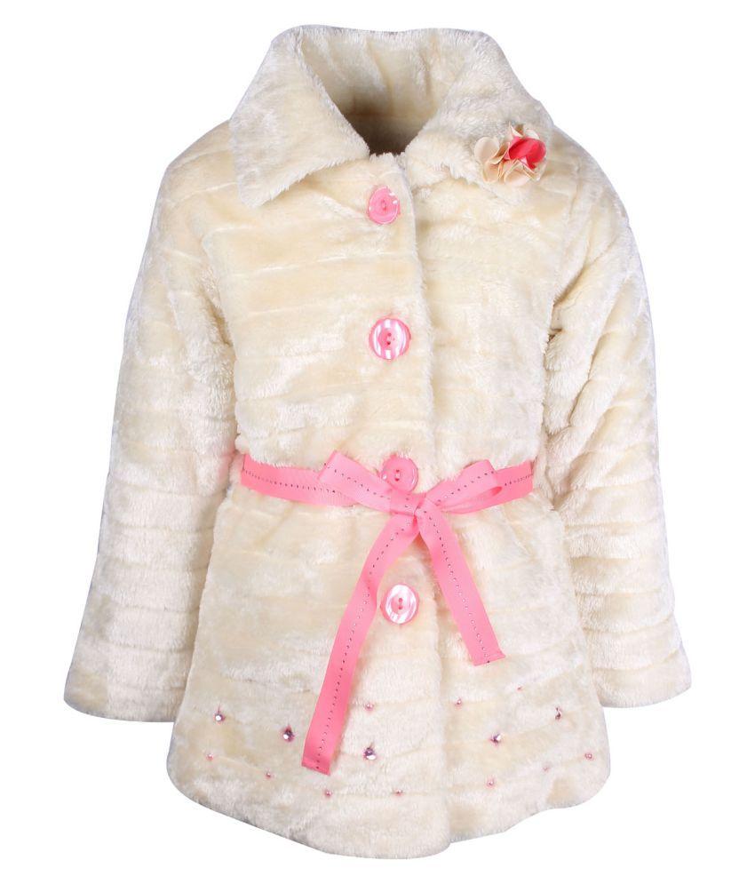 Cutecumber  Partywear Winter  Girls  Cream  Jacket